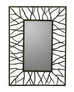 Aysel Mirror (Aged Brown with Rust Highlights) - 31 x 43 - [40687]