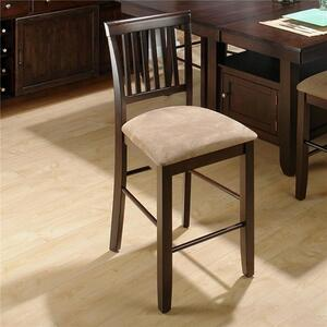 Bakery's Cherry Slat Back Counter Height Stool - Set of 2 - [373-BS711KD]