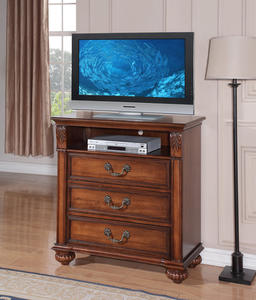 Barkley Square Media Cabinet (Warm Oak Finish) - [BQ600TV]