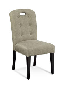 Bartlett Slot Back Parsons Chair (Linen Tweed) - [DPCH35-748EC]