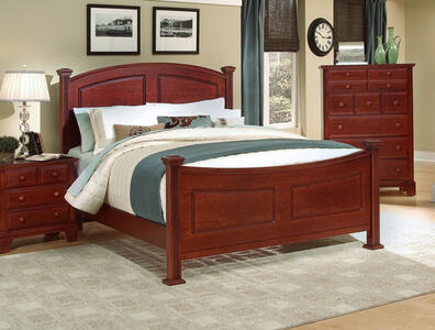 Hamilton Franklin Panel Bed (Cherry Finish)