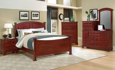 Hamilton Franklin Panel Bedroom Set (Cherry Finish)