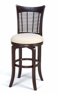 Bayberry Wicker Swivel Bar Stool (Dark Cherry Finish) - [4783-830]