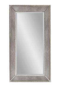 Beaded Wall Mirror (Silver Leaf Finish) - [M1946BEC]