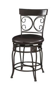 Big & Tall Back to Back Scroll Counter Stool (Black) - [938-918]