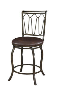 Big & Tall Triple Cone Counter Stool (Brown Crackle) - [938-726]