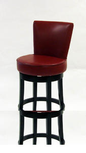 Boston Swivel Counter Stool (Red) - [LC4044BARE26]