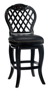 Braxton Wood Counter Stool (Black Honey Finish) - [61919]