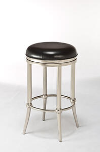 Cadman Backless Counter Stool (Dull Nickel Finish) - [5173-827]