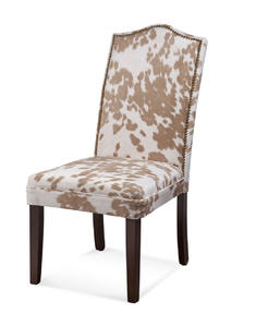 Camelback Nailhead Parsons Chair (Palamino Finish) - [DPCH13-766EC]