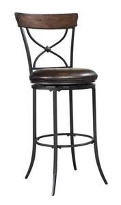 Cameron Swivel X-Back Barstool (Chestnut Brown Finish) - [4671-830]