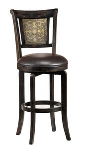 Camille Swivel Counter Stool with Completely KD (Black Finish) - [4861-826]
