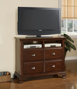 Canton Media Cabinet (Cherry Finish) - [CN600TV]
