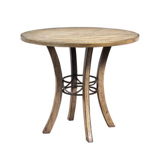 Charleston Counter Height Round Wood Dining Table (Desert Tan Finish) - [4670CTB]
