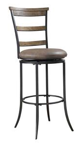 Charleston Swivel Counter Stool with Ladder Back (Desert Tan Finish) - [4670-828]
