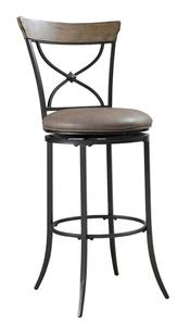 Charleston Swivel Counter Stool with X-Back (Desert Tan Finish) - [4670-826]