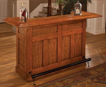 Classic Large Bar Oak Finish 62576aoak Decor South