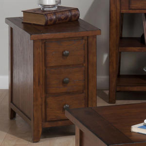 Clay County Oak Chairside Table - [443-7]