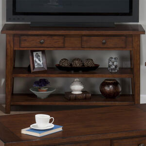 Clay County Oak Sofa & Media Table - [443-4]