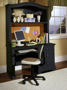 Cottage Collection Computer Desk (Black Finish)