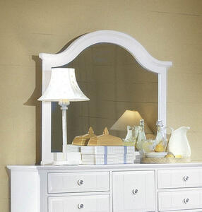 Cottage Collection Landscape Mirror (Snow White Finish)