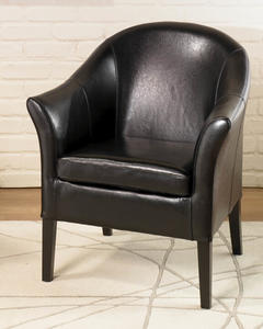 Cleveland Club Chair (Black Leather) - [LCMC001CLBL]