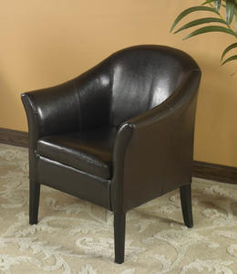 Cleveland Club Chair (Brown Leather) - [LCMC001CLBC]