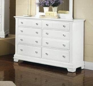 Cottage Collection Double Dresser (Snow White Finish) - [BB24-001]