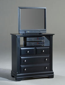 Cottage Collection Media Cabinet (Black Finish) - [BB16-114]
