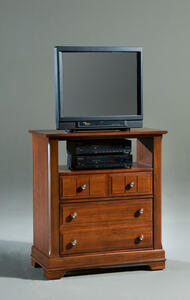 Cottage Collection Media Cabinet (Cherry Finish) - [BB19-114]