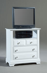 Cottage Collection Media Cabinet (Snow White Finish) - [BB24-114]