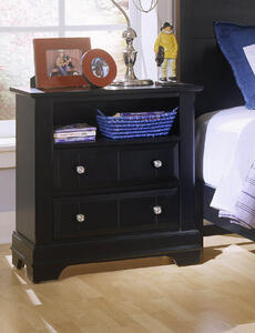 Cottage Collection Nightstand (Black Finish)