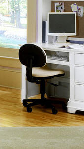 Cottage Collection Wooden Desk Chair  (Snow White Finish) - [BB24-006A]