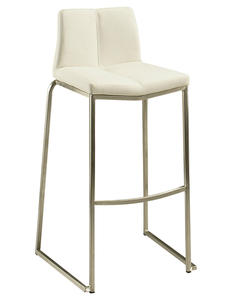Daqo Bar Stool (Stainless Steel & Ivory Finish) - [DQ-210-30-SS-978]