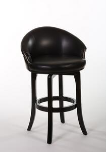 Dartford Swivel Counter Stool (Dark Brown Cherry Finish) - [5075-826]
