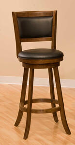 Dennery Swivel Counter Stool (Cherry Finish) - [4472-826]