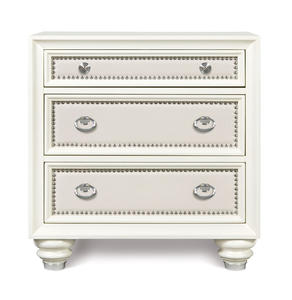 Diamond Nightstand (Glossy Cream) - [B2344-01]