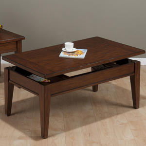 Dunbar Oak Casual Styled Lift Top Cocktail table - [411-1]