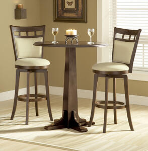 Dynamic Designs Pub Table (Brown Cherry Finish)