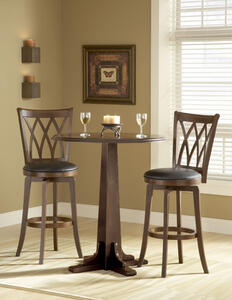 Dynamic Designs Pub Table Set (Brown Cherry Finish)