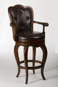 Eastwind Swivel Counter Stool (Dark Cherry Finish) - [5080-827]