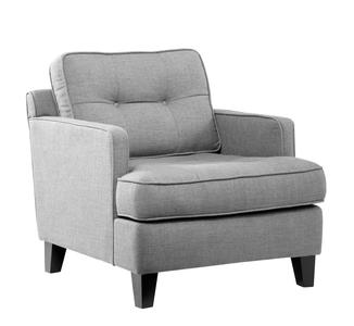 Eden Chair (Cement Gray Fabric) - [LC21511CE]