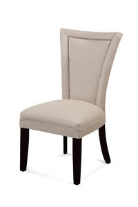 Flair Nailhead Parsons Chair (Natural Linen Finish) - [DPCH11-739]