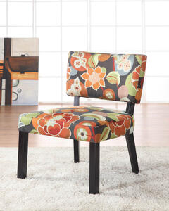 Floral Accent Chair (Bright Print) - [383-936]