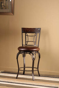 Granada Swivel Counter Stool (Dark Chestut & Brown Finish) - [4702-826]