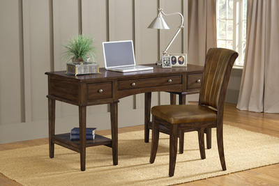 Gresham Desk & Chair Set (Cherry Finish) - [4379GD]