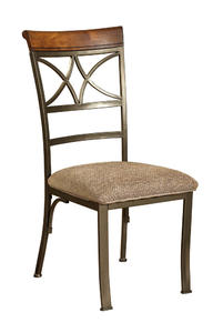 Hamilton Dining Chair - Set of 2 (Matte Pewter & Bronze) - [697-434]