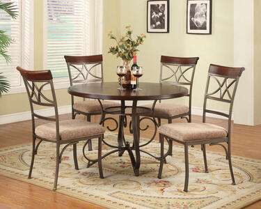 Hamilton Five Piece Dining Set (Medium Cherry) - [697-413M1]