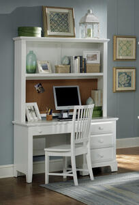 Hamilton Franklin Computer Desk (Snow White Finish) - [BB6-778B]