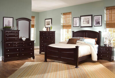Hamilton Franklin Panel Bedroom Set (Merlot Finish)